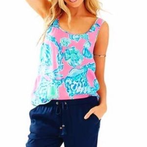 Lilly Pulitzer Barefoot Cosmos Tank Sz M